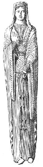12th Century    Chartres Cathedral figure
