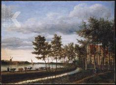 Cornelis Hendriksz. Vroom en Jan Asselijn, Gezicht op het Spaarne met een veedrijver en zijn kudde op het jaagpad, op de achtergrond de St. Bavo, 1646, olieverf op doek, 109,5 x 147cm. Veiling: Sotherby's Londen 2004.