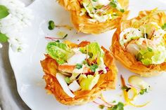Fennel, lobster and citrus salad in a basket. Delicious Magazine Australia