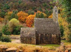 Autumn in Gleann Da' Loch in Wicklow, Ireland.