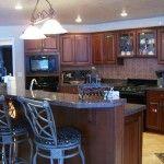 Kitchen with tile back splash