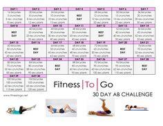 Fitness To Go 30 Day Ab Challenge! #fitnesstogo #workoutstogo #30dayabchallenge