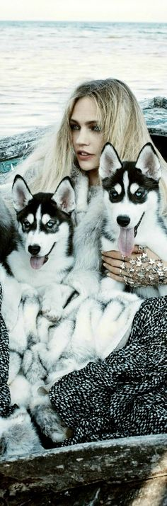 #Winter- Faux Fur Call Of The Wild: Sasha Pivovarova For Vogue September 2014- ♔LadyLuxury♔