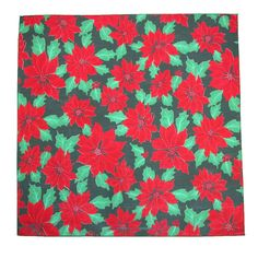 This poinsettia print bandana is a really beautiful design that would be perfect for decorating the house for the holidays. They can also be used for DIY crafts that would make great Christmas gifts or themed party decorations.