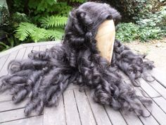 Hand made early 18th century style wig. Mixed yak and human hair. Made by Malcolm Hart 2013.