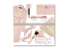 """""""Pastel trench"""" by sherrie-mock ❤ liked on Polyvore featuring Rochas, Christian Louboutin, Alexander McQueen, Alice + Olivia, Sephora Collection, Cazal, women's clothing, women's fashion, women and female"""