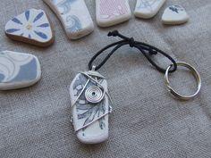 Frammento di maiolica spiaggiata in originale di LaFormaDellAcqua