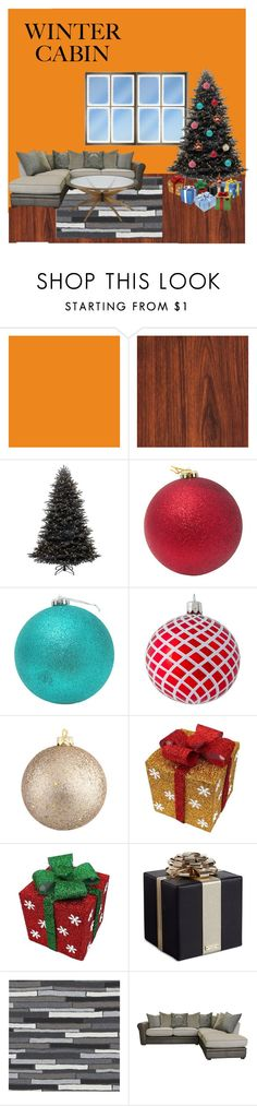 """""""Winter holidays at the cottage"""" by miki-87 ❤ liked on Polyvore featuring interior, interiors, interior design, home, home decor, interior decorating, Kate Spade, CB2 and wintercabin"""