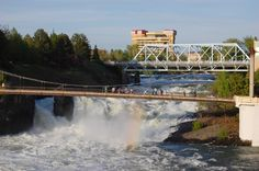 I'll be at a convention in Spokane in July.  The river won't be at flood stage like in this picture, but I look forward to some decompression time next to this river.  I hope some auction marketers want to go for a stroll, as this beats a hotel lobby or restaurant.
