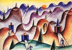 Cinco melodías (1949) - Xul Solar (Oscar Agustin Alejandro Schulz Solari - argentino (1887-1963)