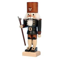 Alexander Taron Importer 32632 The Miner Nutcracker Holding His Axe From UlbrichtSeiffener Nussnacker Is Hand in  a Natural Wood Finish -- This is an Amazon Affiliate link. Learn more by visiting the image link.