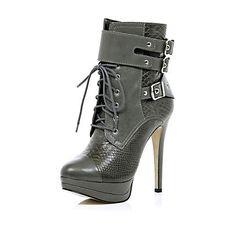 417ff4e113a7 Grey military platform boots