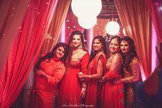 Photographer - Bridemaid Shot Photos, Bengali Culture, Red Color, Make Up, Mangtika, Gold Jewellery pictures.