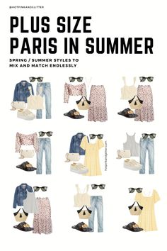Summer plus size outfits inspired by Paris! Tap to shop my favorites Paris Outfits, Capsule Outfits, Summer Outfits, Fashion Outfits, Summer Packing Lists, Packing List For Vacation, Plus Size Capsule Wardrobe, Paris Summer, Plus Size Summer