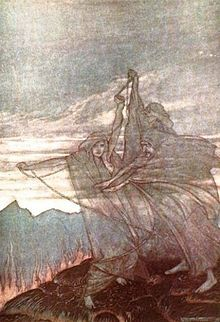 The Norns, by Arthur Rackham.