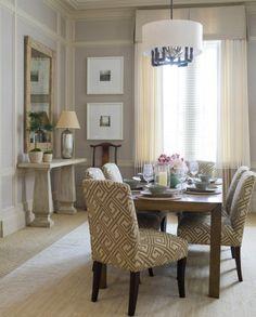 Esszimmer Dekoration mit Stil - esszimmer dekoration geometrische muster stühle