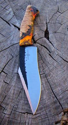 Semi-Custom Handmade Pit Bull knife by Joe Loui Knives