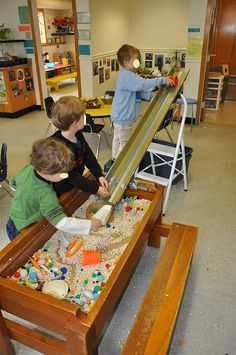 ramps or waterways or... that extend the sensory table play.
