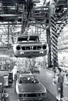 Alfa Romeo factory Arese circa 1974/1976