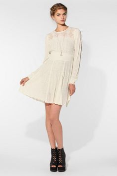 Carin Wester Roxy Sweater Dress  #UrbanOutfitters- How cute with Milk Maid Braids!!!