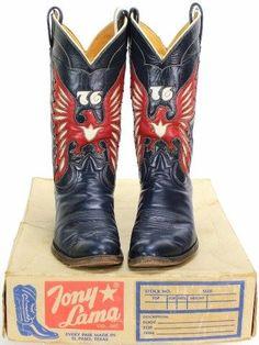 Tony Lama 76 bicentennial cowboy boots