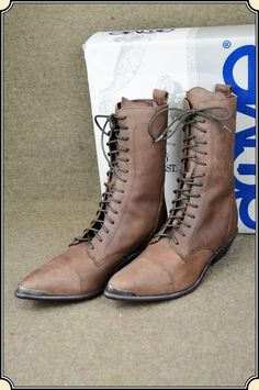 Acme Ladies Tall Lace up Shoe - Brown - Size 6 1/2