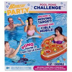 Great for pool or lake parties. Players throw a ping pong ball into the moving boat shaped target with 6 cups. Each team takes turns shooting until one team eliminates all of their opponents cups. Lake Party, Kids Outdoor Play, One Team, Target, Beach Mat, Challenges, Fun Adventure, Water Parks, Activities