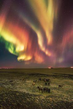 : Исландия,полярное сияние