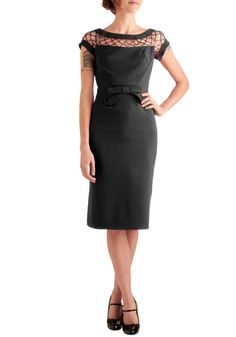 Bettie Page Oui Mon Cheri Dress in Black. Someone help me pick my jaw up off the floor.