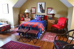 Plaid Equine Bedroom