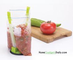 Hands free bag holder #bag #holder #unique #hands #free #holiday #giftsidea #kitchengadgets