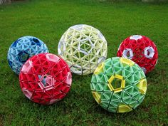 origami snapology knot balls