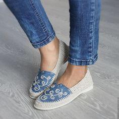 """Купить Льняная обувь """"Эко МОДА"""" - бежевый, льняная обувь, летняя обувь, обувь льняная"""