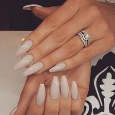 On average, the finger nails grow from 3 to millimeters per month. If it is difficult to change their growth rate, however, it is possible to cheat on their appearance and length through false nails. Are you one of those women… Continue Reading → Neutral Nails, Nude Nails, Coffin Nails, Stiletto Nails, Beige Nails, Neutral Colors, Gorgeous Nails, Pretty Nails, Perfect Nails