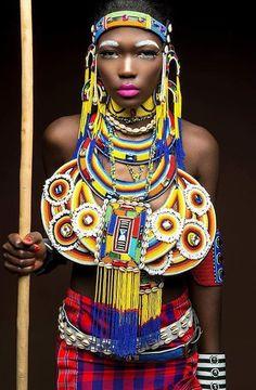 """""""Was für ein Schmuck - Photos Comments """" African Tribes, African Women, African Art, African Theme, African Attire, Tribal Fashion, African Fashion, Tribal Looks, Black Artwork"""