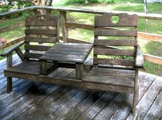 before photo of deck and chairs covered with grime and mildew! Checkout the after photo. Outdoor Furniture Sets, Outdoor Decor, Types Of Wood, Decks, Restoration, Decorating Ideas, Chairs, Cool Stuff, Home Decor