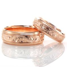 I love the idea of having matching wedding bands
