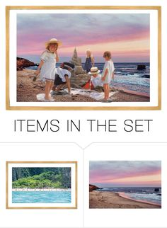 """""""Beach"""" by stylepetronio ❤ liked on Polyvore featuring art"""