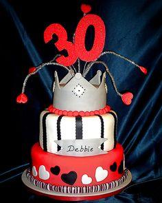 30th birthday cake by Eva Rose Cakes