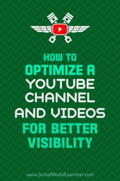 Want more views for your YouTube content?  Wondering how to show up in YouTube's search and suggested videos?  An optimized YouTube channel delivers a rewarding viewing experience and works with the YouTube algorithm to boost your visibility.  In this article, you'll learn how to set up and optimize your YouTube channel and videos for more exposure. #socialmedia #socialmediamarketing #socialmediaexaminer #youtube #youtubemarketing