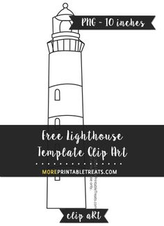 Free Lighthouse Template - Clipart