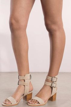 Trendy Ideas For Summer Outfits : Search Sol Sana Porter Ii Ecru Heel on Tobi.com! ankle strap double buckle tan