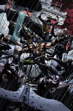 Forever Evil: Arkham War - The Bane Mutiny. The Scarecrow begins to win over Gotham for Arkham and Penguin is given an offer by Bane. Comic Book Characters, Comic Character, Comic Books Art, Book Art, Marvel Characters, Dc Comics, Batman Comics, Bane, Dragon Ball Z