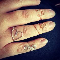 Practicing wire rings this morning :)