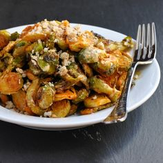 Roasted-Brussels-Sprouts-Caesar Salad