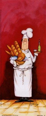 Chef With Bread And Oil Fine-Art Print by Tracy Flickinger at FulcrumGallery.com