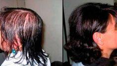 Cuando esta mujer comenzó a utilizar este remedio tuvo que dejarlo de usar ya que su cabello creció demasiado en muy poco tiempo.