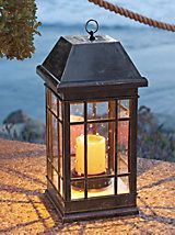 Solar Powered Estate Lantern - Traditional antique-look patio light | Solutions- its larger than it looks here.