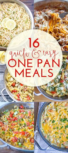 16 Quick and Easy One-Pan Meals – Kochen essen-ideen Easy Summer Dinners, One Pot Dinners, Easy Meals For Kids, One Pan Meals, Quick Easy Meals, Kid Meals, Quick Cheap Dinners, Budget Meals, Quick Recipes For Dinner