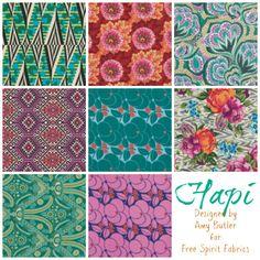 TheRibbonRetreat.com:  Hapi, Designed by Amy Butler for Free Spirit Fabrics
